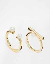 Pilgrim Pearl Ring Set Gold
