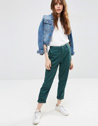 Asos Chino Trousers Teal Green Multi