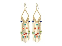 Lauren Ralph Lauren Pop Style Fringe Chandelier Earrings Gold Multi Earring