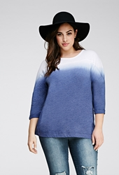 Forever 21 Dip Dyed Pullover Indigo