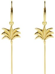 Anna Nina Palm Tree Ring Earrings Gold Plated Silver
