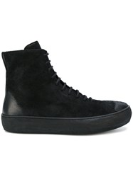 The Last Conspiracy Leather And Suede Zip Up Boots Black