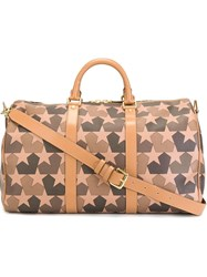 Ports 1961 Star Camouflage Print Weekender Brown