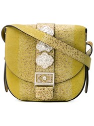 Etro Embellished Buckle Bag Women Leather One Size Green