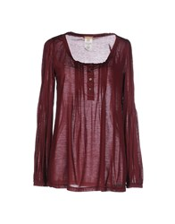 Galliano Topwear T Shirts Women Maroon
