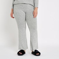 River Island Plus Grey Flare Joggers