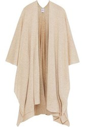 Madeleine Thompson Emily Checked Wool And Cashmere Blend Wrap Cream