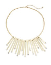 Catherine Stein Faceted Fringe Bib Necklace