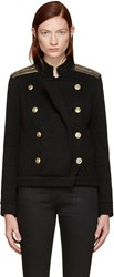 Balmain Pierre Black Embellished Double Breasted Cardigan