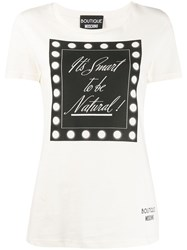 Boutique Moschino It's Smart To Be Natural T Shirt White