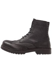 Selected Femme Sfbeth Laceup Boots Black