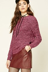 Forever 21 Marled Waffle Knit Sweater