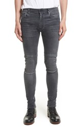 Belstaff Men's Tattenhall Washed Denim Skinny Jeans Charcoal