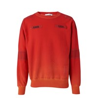 Ambush Bleach Patchwork Sweatshirt Orange