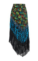 Andrew Gn Printed Asymmetrical Skirt Multi