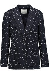 3.1 Phillip Lim Cotton Blend Boucle Blazer Midnight Blue