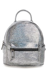 Street Level Faux Leather Backpack Metallic Disco