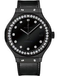 Hublot 565Cx1210vr1204 Classic Fusion Diamond And Leather Watch