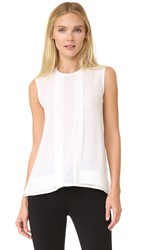 Yigal Azrouel Pleat Trim Tank Top White