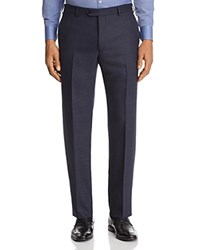 Emporio Armani Micro Check Classic Fit Dress Pants Blue