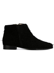 Anna Baiguera Feathered Booties Black
