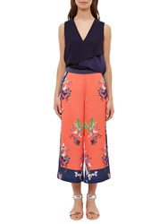 Ted Baker Tessey Tropical Oasis Culottes Coral Multi