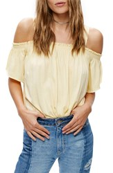 Free People Women's Darling Off The Shoulder Top Yellow