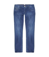 Stefano Ricci Embroidered Straight Leg Jeans Blue