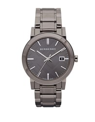 Burberry Mens Gunmetal Round Dial Watch