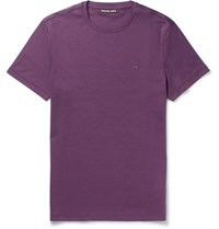 Michael Kors Slim Fit Cotton Jersey T Shirt Burgundy