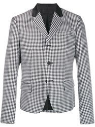 Haider Ackermann Houndstooth Button Jacket Black
