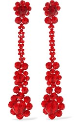 Simone Rocha Crystal Earrings Red