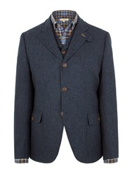 Gibson Grouse Herringbone Jacket Blue