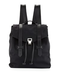 Ps1 Nylon Backpack W Leather Trim Black Proenza Schouler