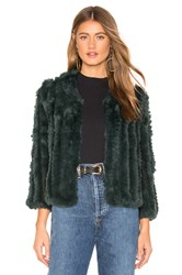 Heartloom Rosa Fur Jacket Dark Green