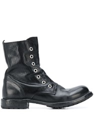 Moma Combat Ankle Boots Black