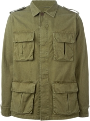 Saint Laurent Military Style Jacket Green