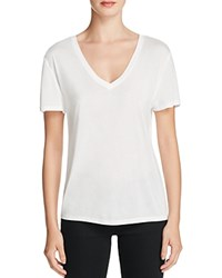 Halston Heritage Solid V Neck Tee Compare At 95 White