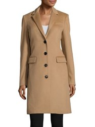 Burberry Tailored Wool Blend Coat Camel
