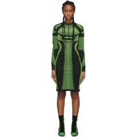 Misbhv Black And Green Active Future Short Dress