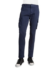 Original Penguin Stretch Cotton Cargo Pants Dress Blue