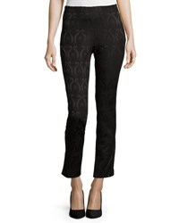 Catherine Malandrino Brocade Slim Ankle Pants Black
