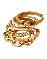 Zito Mixed Bangle Set Bronze Light Horn Ashley Pittman