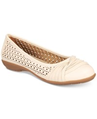 White Mountain Sarlow Flats Only At Macy's Women's Shoes Cream