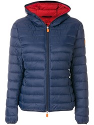 Save The Duck Short Padded Jacket Nylon Polyester Blue