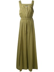 Balmain Military Jumpsuit Women Lyocell 38 Green