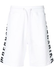 Dirk Bikkembergs Side Logo Shorts White