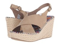 Rocket Dog Rue Blue Dream Catcher Women's Wedge Shoes Navy