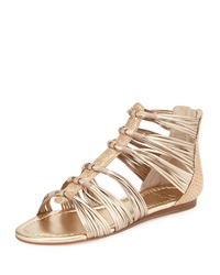 Marc Fisher Canella Metallic Leather Gladiator Sandal Bronze