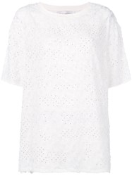 Faith Connexion Feather Embellished T Shirt White